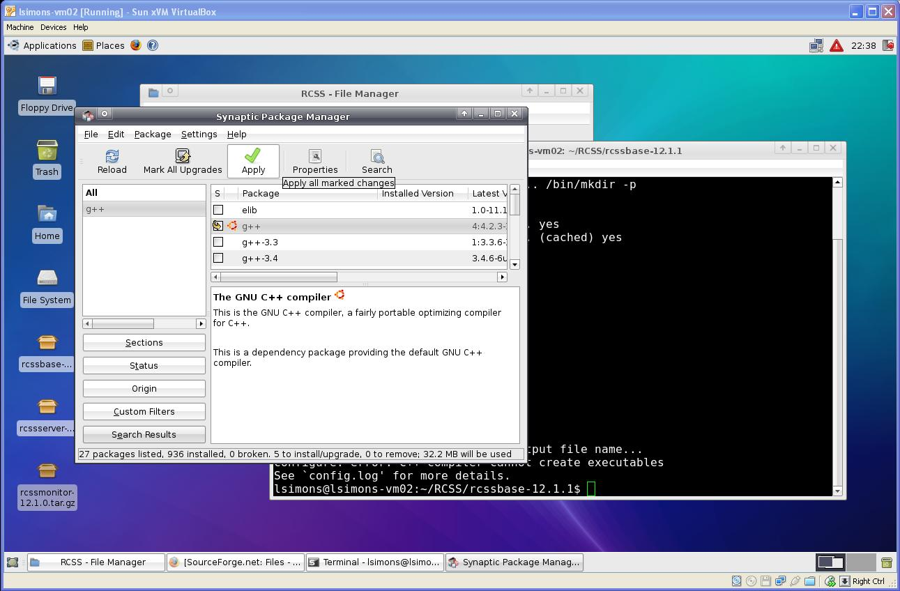 using synaptic package manager
