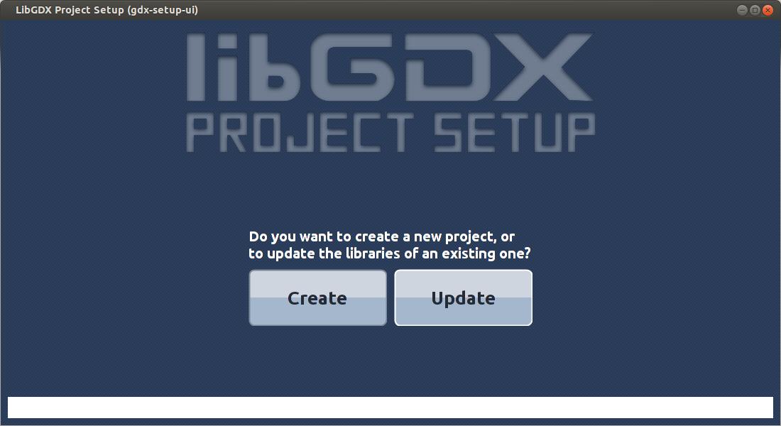 libGDX setup GUI